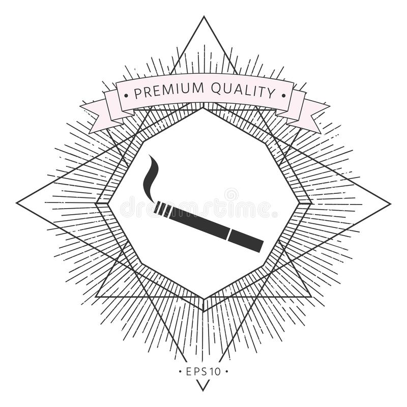 Papierosowa symbol ikona ilustracji