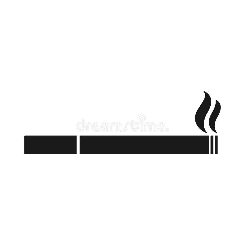 Papierosowa wektorowa ikona Dymienie symbol sylwetka ilustracja wektor