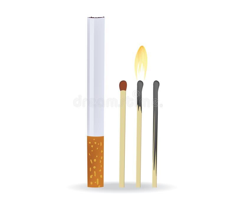 papierosowi dopasowania royalty ilustracja