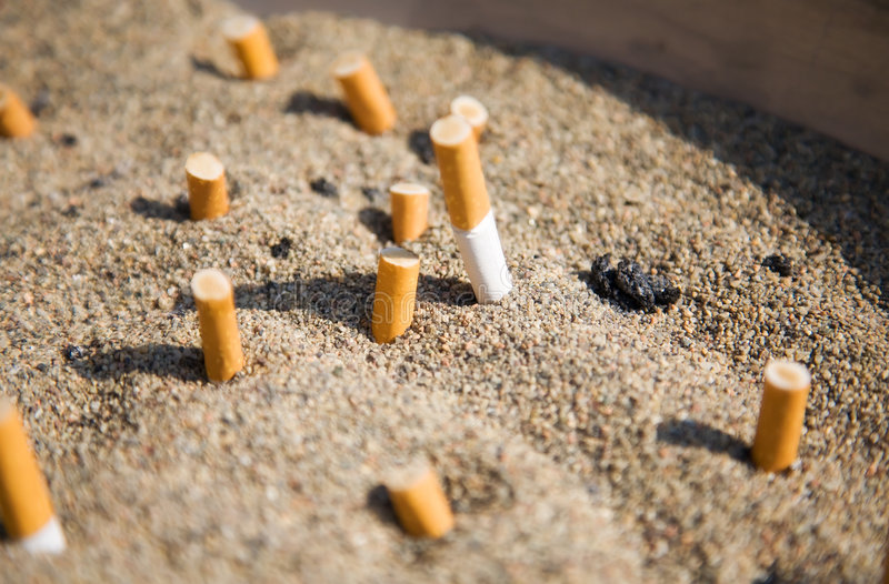papierosu piasek zdjęcia royalty free