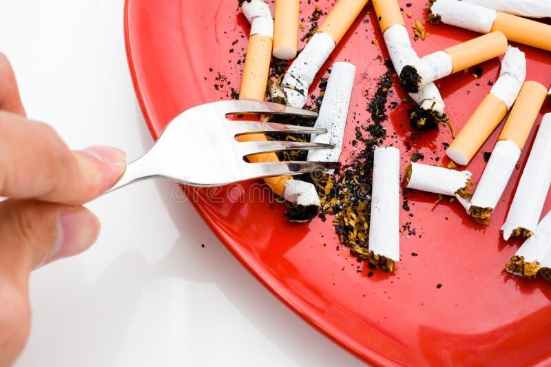 papierosu talerz obrazy royalty free