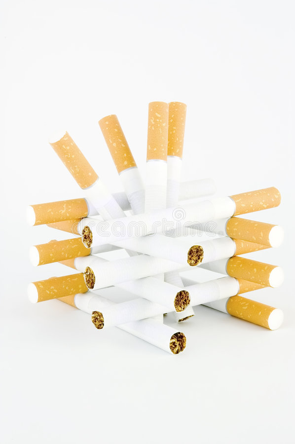 papierosy jednego tower się biały fotografia stock