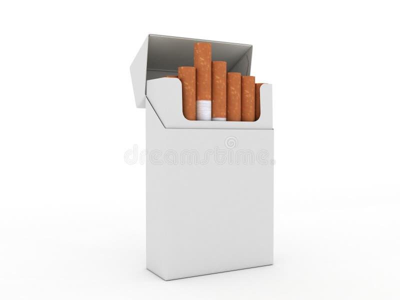 papierosy otwierają paczkę royalty ilustracja