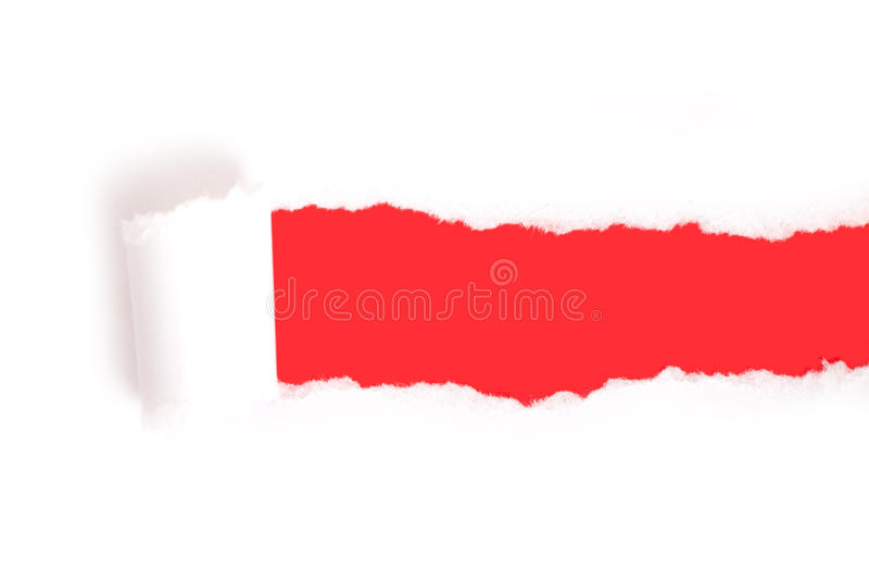 papierowa łza fotografia stock