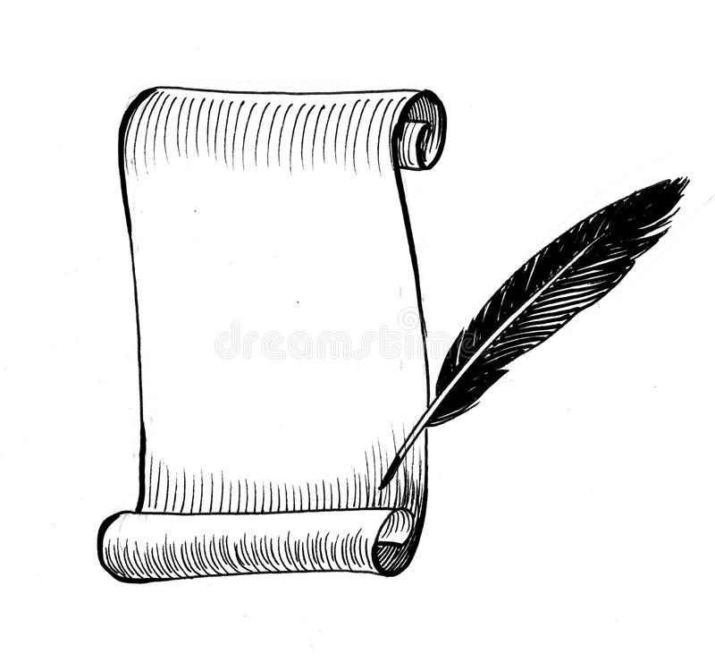 Papierowa ślimacznica i dutka royalty ilustracja