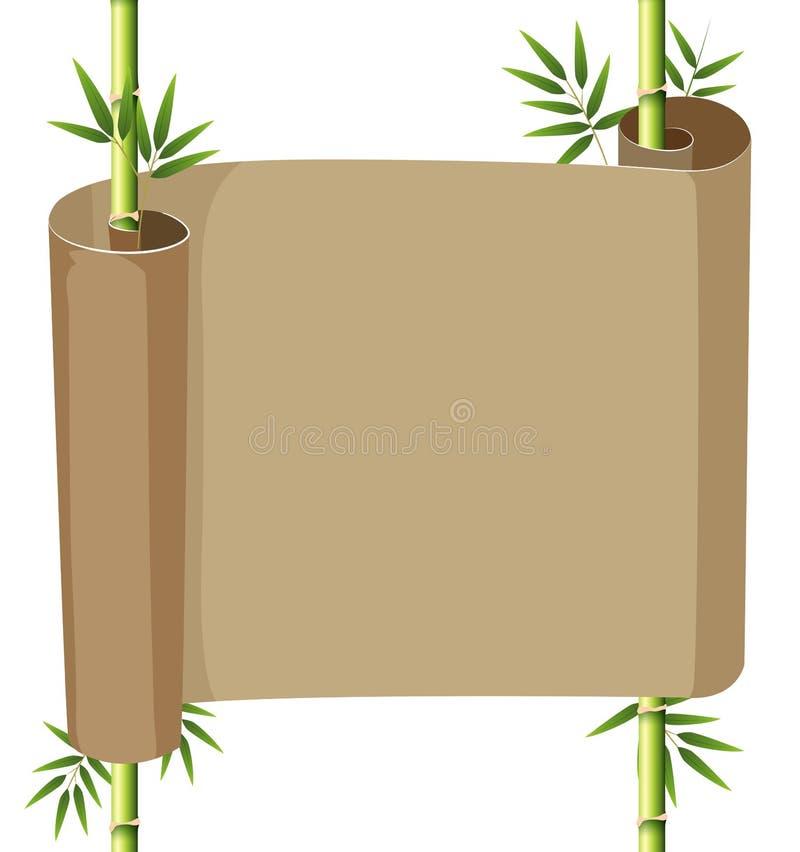Papierowa ślimacznica z bambusem royalty ilustracja