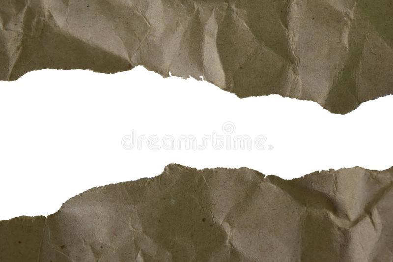 Papierowa brąz ramy tła ścinku ścieżka i opróżnia przestrzeń dla sieć projekta lub graficznej sztuki wizerunku zdjęcie stock