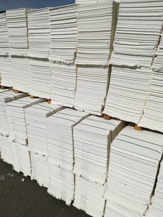 Papierowa braja dla papierowego przemysłu, surowy papier obraz stock