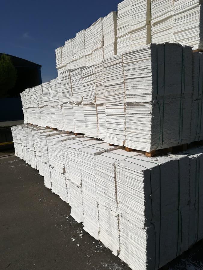 Papierowa braja dla papierowego przemysłu, surowy papier fotografia stock