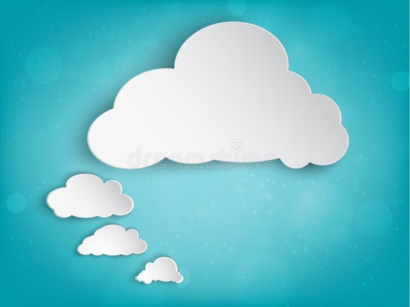 Papierowa chmura dla twój teksta royalty ilustracja