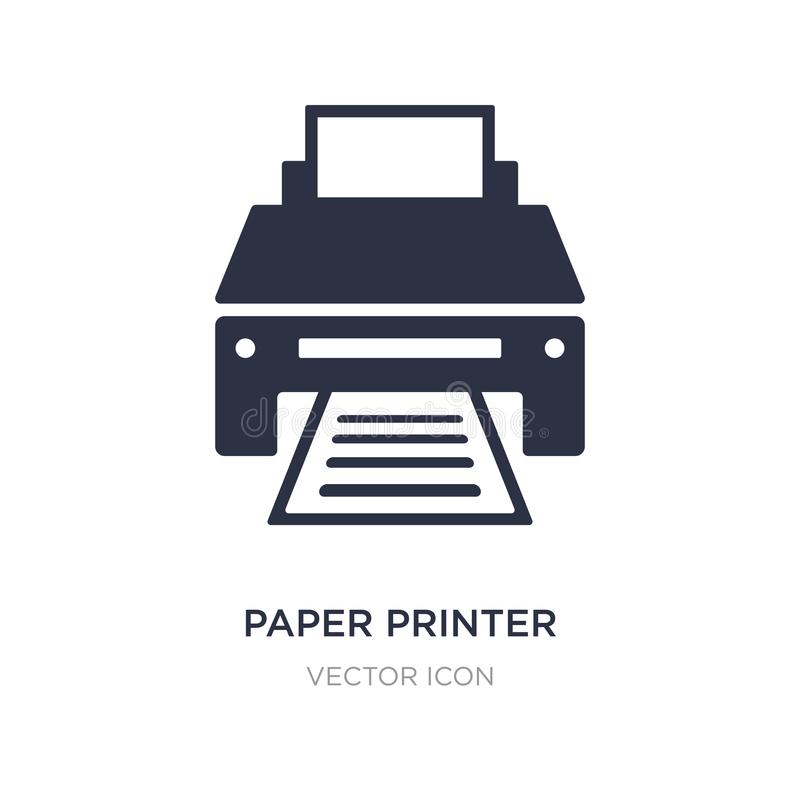 papierowa drukarki ikona na białym tle Prosta element ilustracja od technologii pojęcia royalty ilustracja