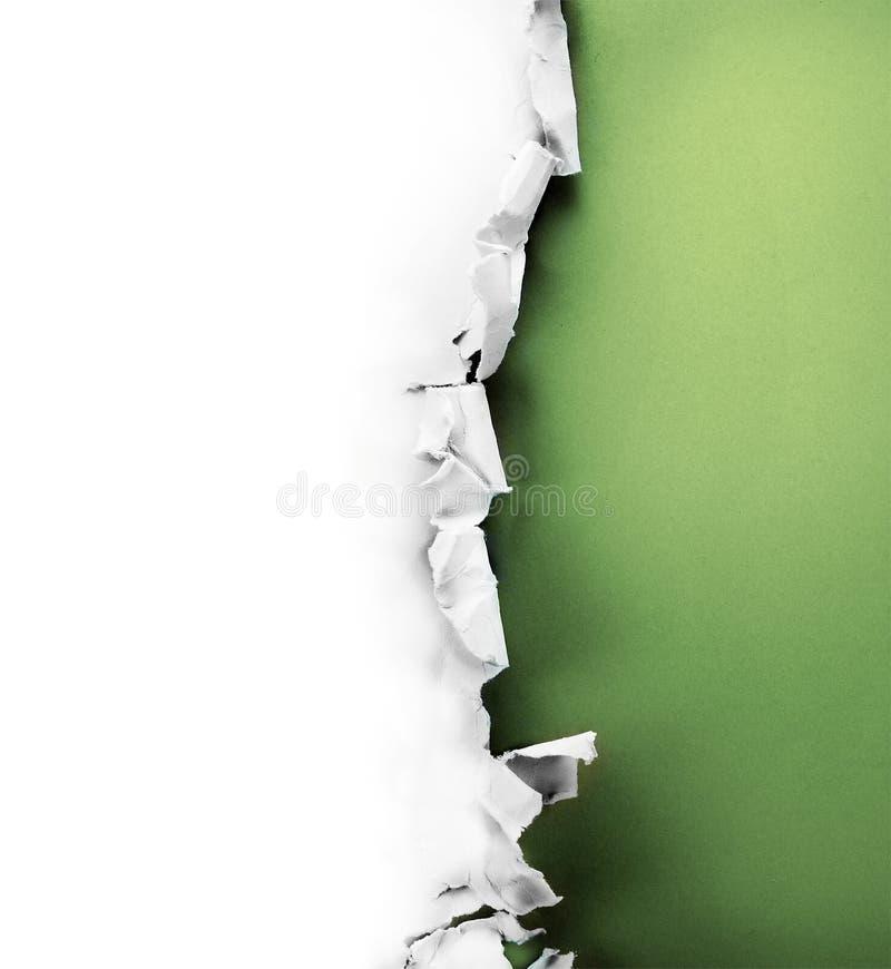 Papierowa Dziura. Obraz Royalty Free