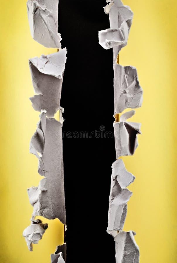 Papierowa Dziura. Zdjęcia Royalty Free