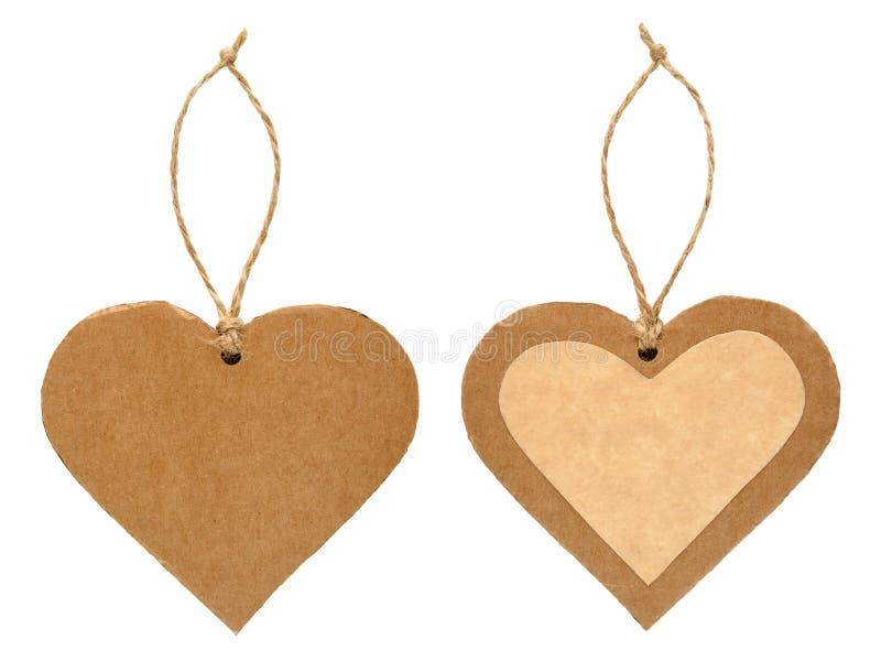 Papierowa etykietka w formie serce obraz stock