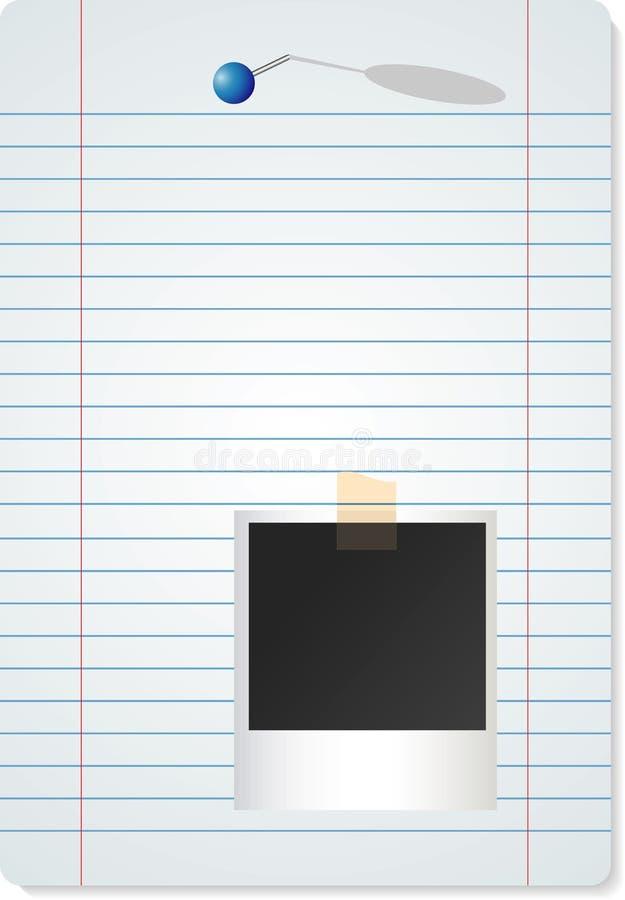 papierowa fotografia royalty ilustracja