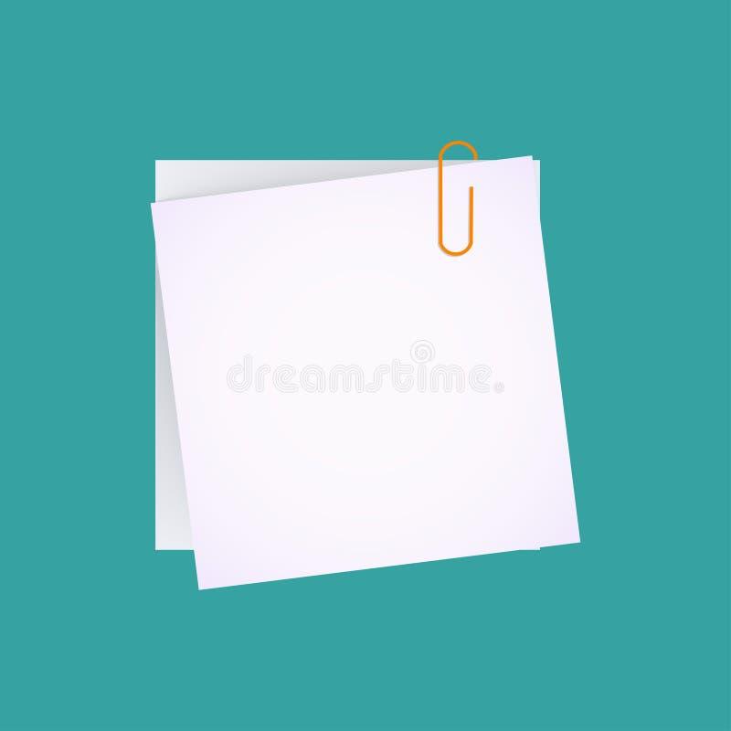 Papierowa i papierowa klamerka royalty ilustracja