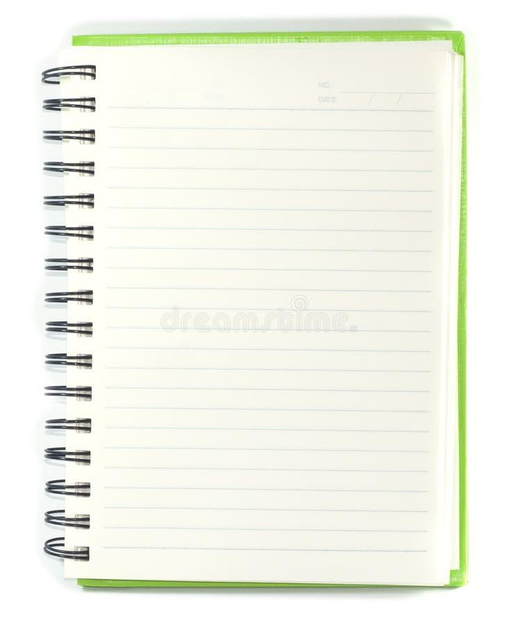 Papierowa notatnika dobra strona z ołówkiem na białym tle zdjęcie royalty free