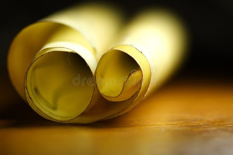 papierowa pradawnych zwoju obrazy stock