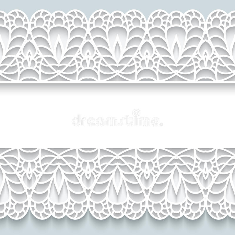 Papierowa rama z koronkowymi granicami ilustracji