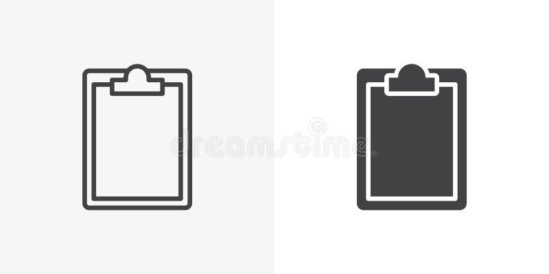 Papierowa schowek ikona royalty ilustracja