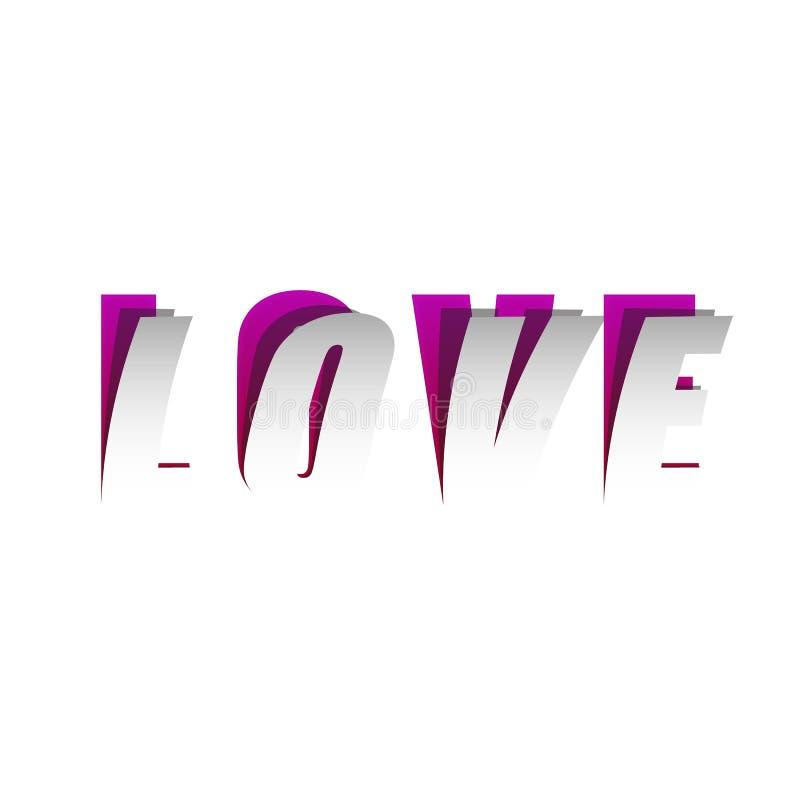 Papierowa skutka słowa miłość royalty ilustracja