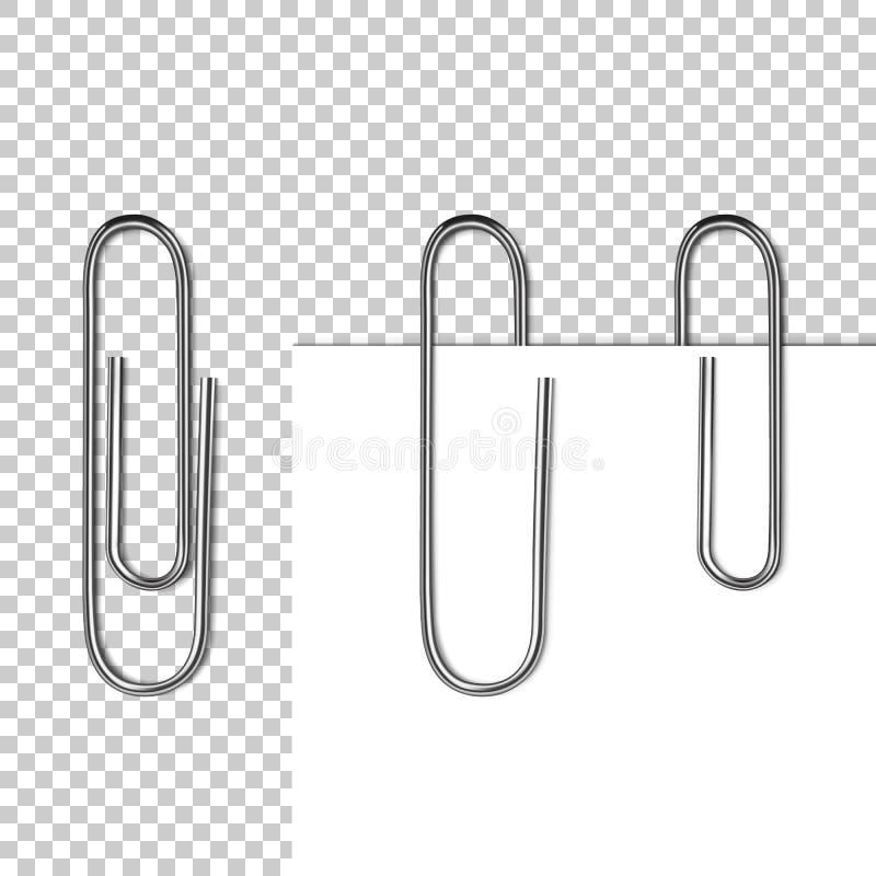 Papierowa strona na klamerka wektoru ilustraci ilustracja wektor