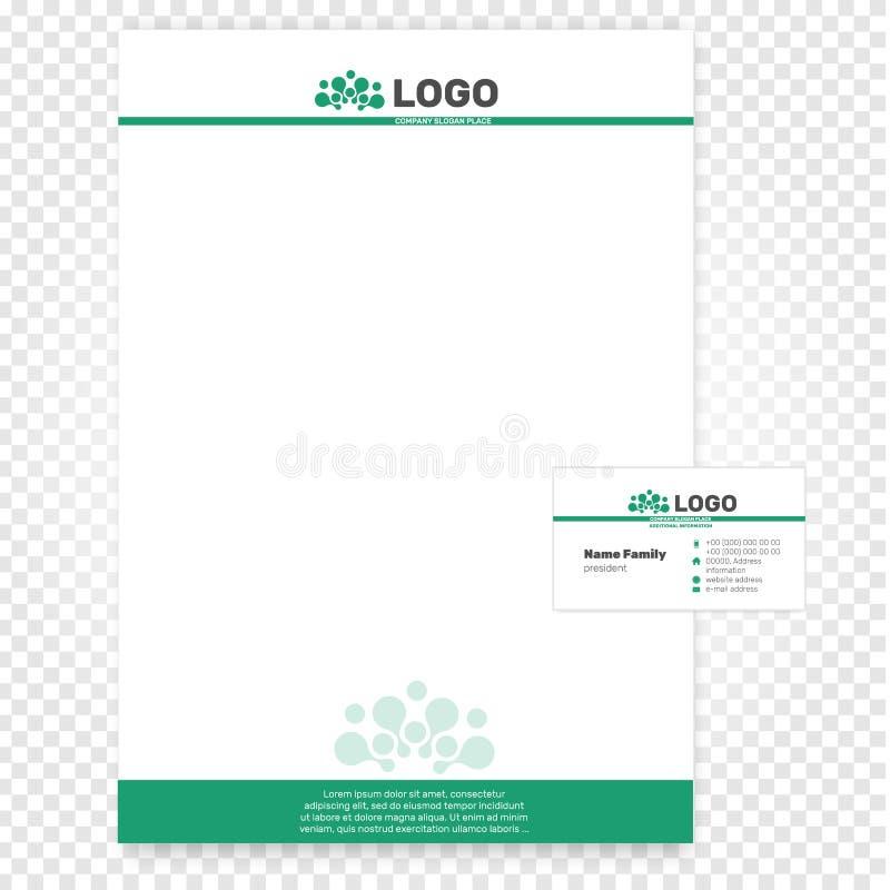 papierowa strona wektoru ilustracja Firmy tożsamości biznesu szablon Oznakować offece A4 papier royalty ilustracja