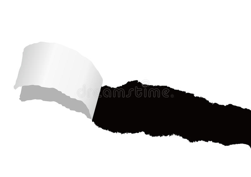 Papierowa szczeliny łza ilustracja wektor