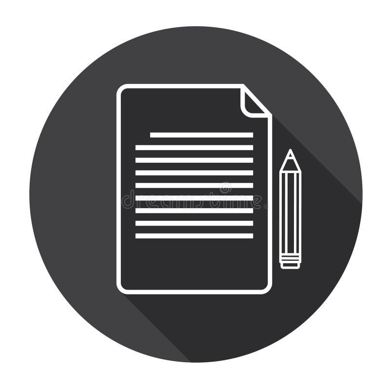 Papierowa Szkotowa dokumentu kontrakta znaka pióra sieci ikona ilustracja wektor