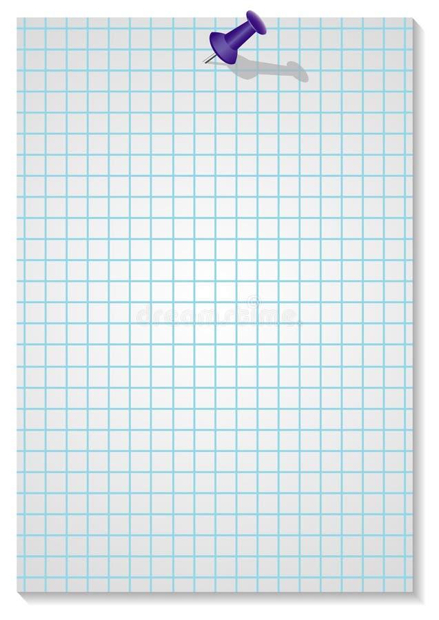 papierowa szpilka royalty ilustracja