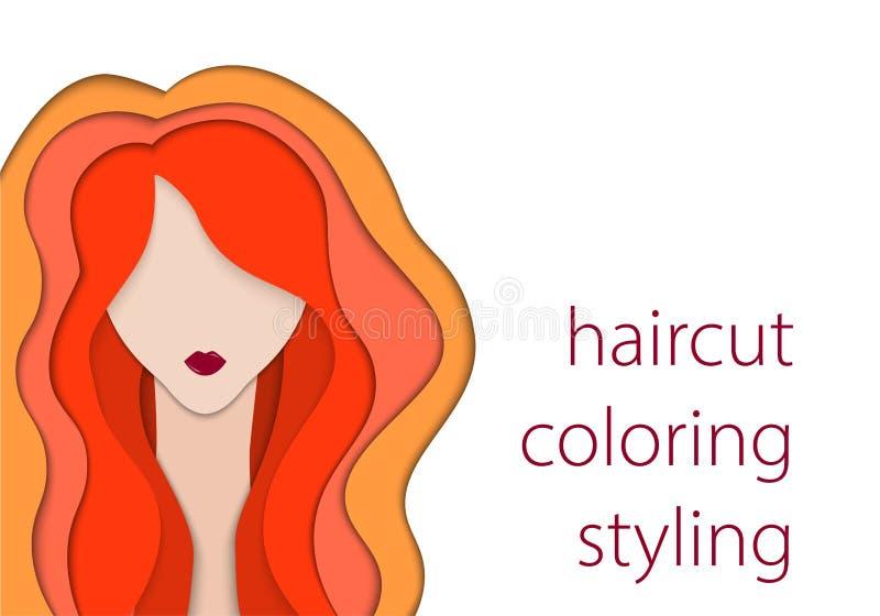 Papierowa sztuka na białym tle Moda i styl piękna lepsza konwertyty dziewczyny ilość surowa mody nakreślenia wektor Długie włosy  ilustracja wektor