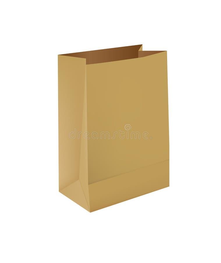 Papierowa torba ilustracji