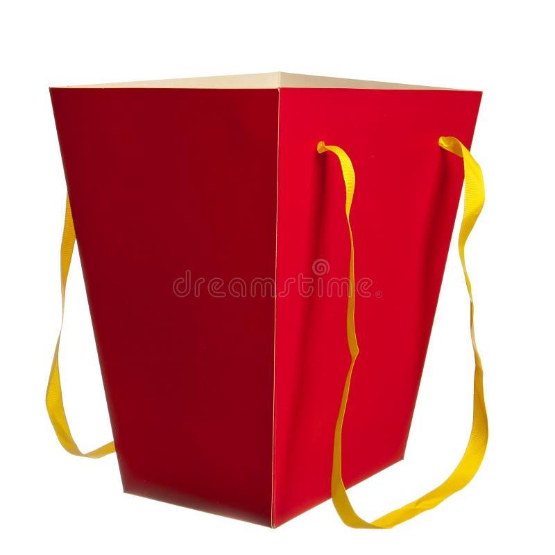 papierowa torby czerwień fotografia royalty free