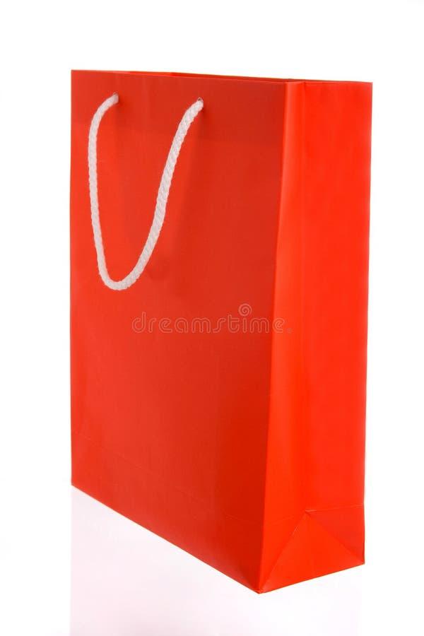 papierowa torby czerwień zdjęcia stock