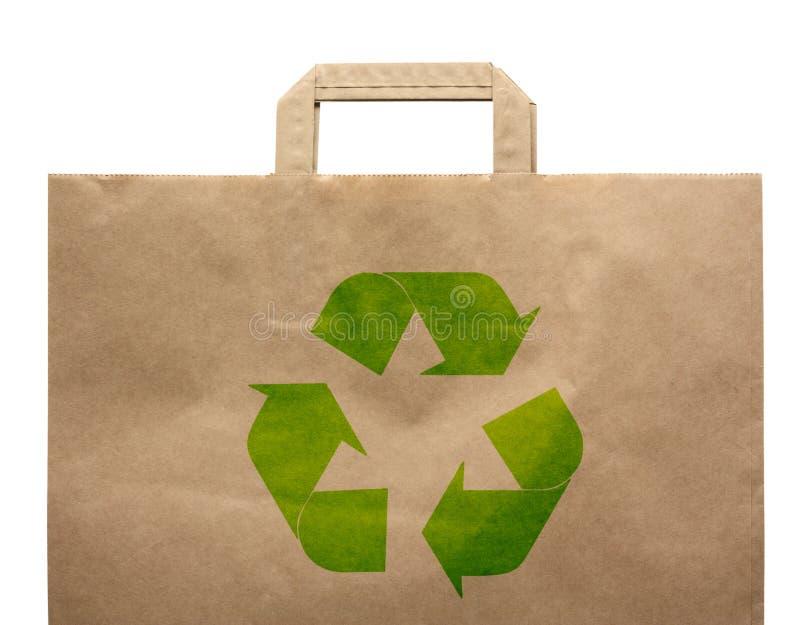 Papierowa zakupy eco torba fotografia stock