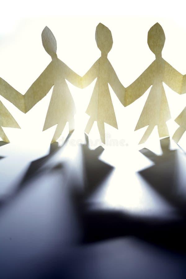 papierowe łańcuszkowi ludzi zdjęcia stock