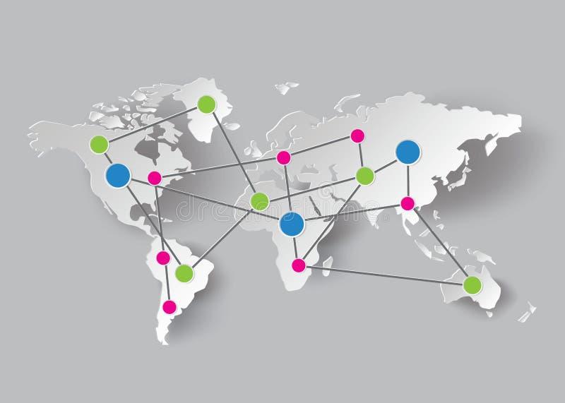 Papierowe Światowej mapy grafika royalty ilustracja
