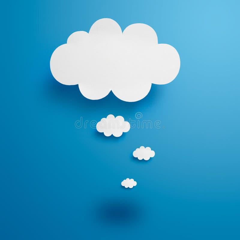 Papierowe chmury ilustracja wektor