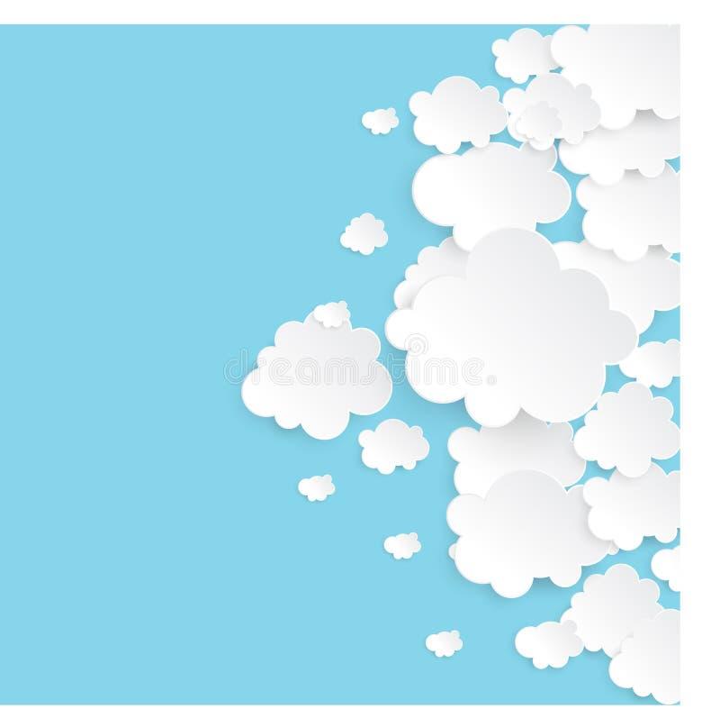 Papierowe chmury ilustracji