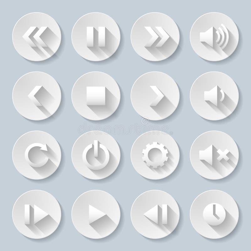 Papierowe ikony ilustracji