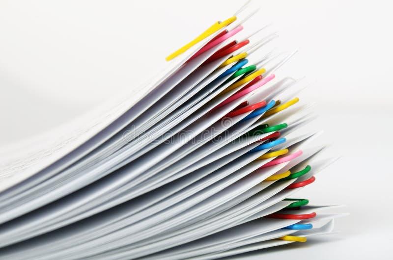 Papierowe klamerki obrazy stock
