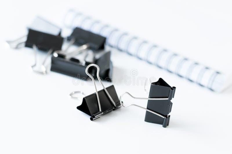 Papierowe klamerki zdjęcie stock