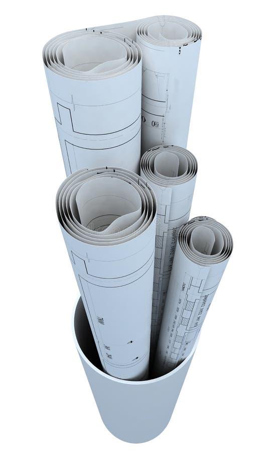 Papierowe rolki ilustracja wektor