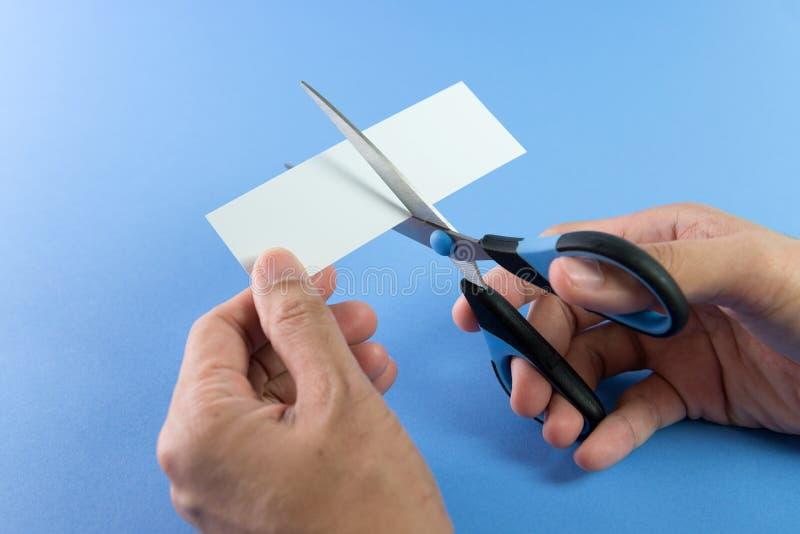 papierowe tnące nożyczki obraz stock