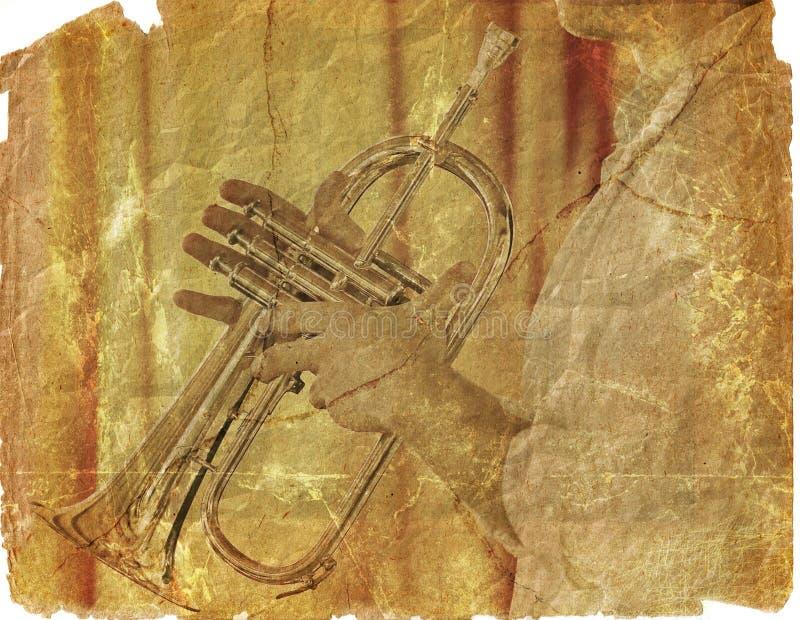 papierowego świstka trąbkarz ilustracja wektor