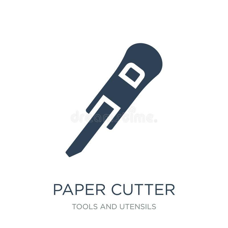 papierowego krajacza ikona w modnym projekta stylu papierowego krajacza ikona odizolowywająca na białym tle papierowego krajacza  ilustracji