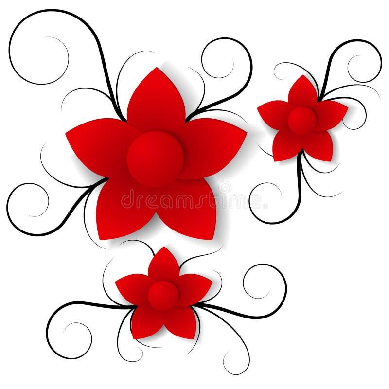 Papierowego kwiatu tło ilustracja wektor