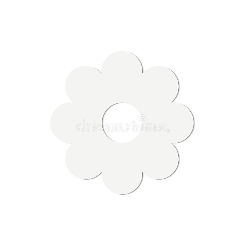 Papierowego kwiatu wektorowa ilustracja odizolowywająca royalty ilustracja