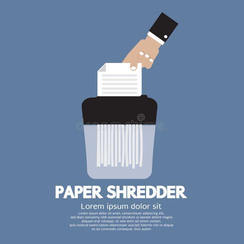 Papierowego rozdrabniacza maszyna ilustracja wektor