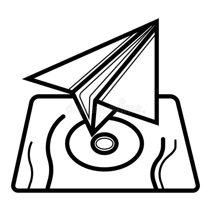 Papierowego samolotu ikony wektor ilustracja wektor